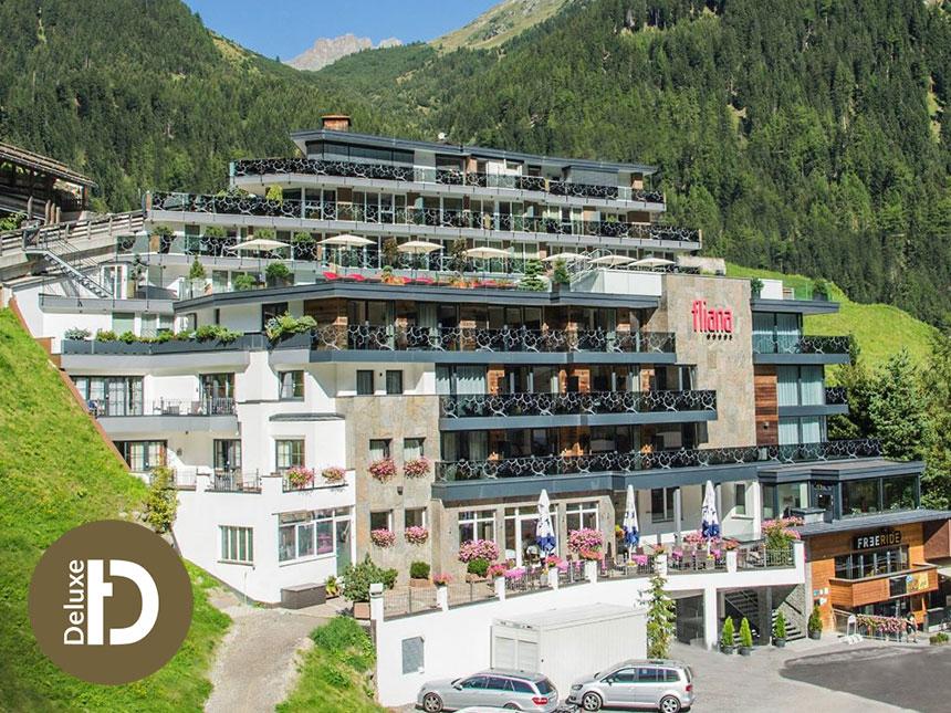 Vorschaubild von Tirol 4 Tage Ischgl Urlaub Hotel Fliana Reise-Gutschein Vollpension Wellness